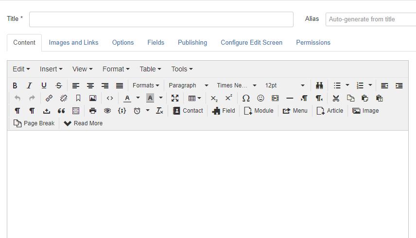 Default wysiwyg editor in Joomla 3