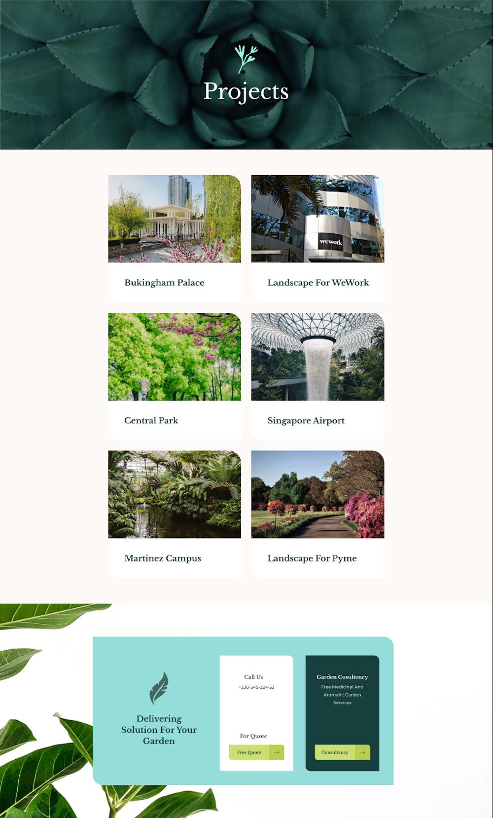 Landscaping layout bundle