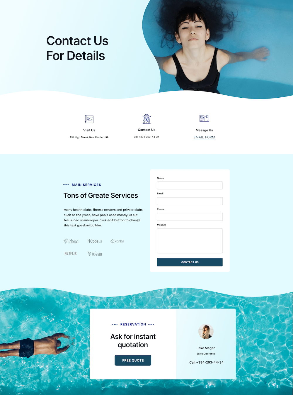 Pool Service Layout Bundle