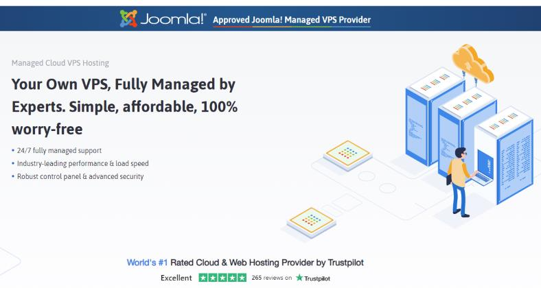 Joomla VPS web hosting from ScalaHosting