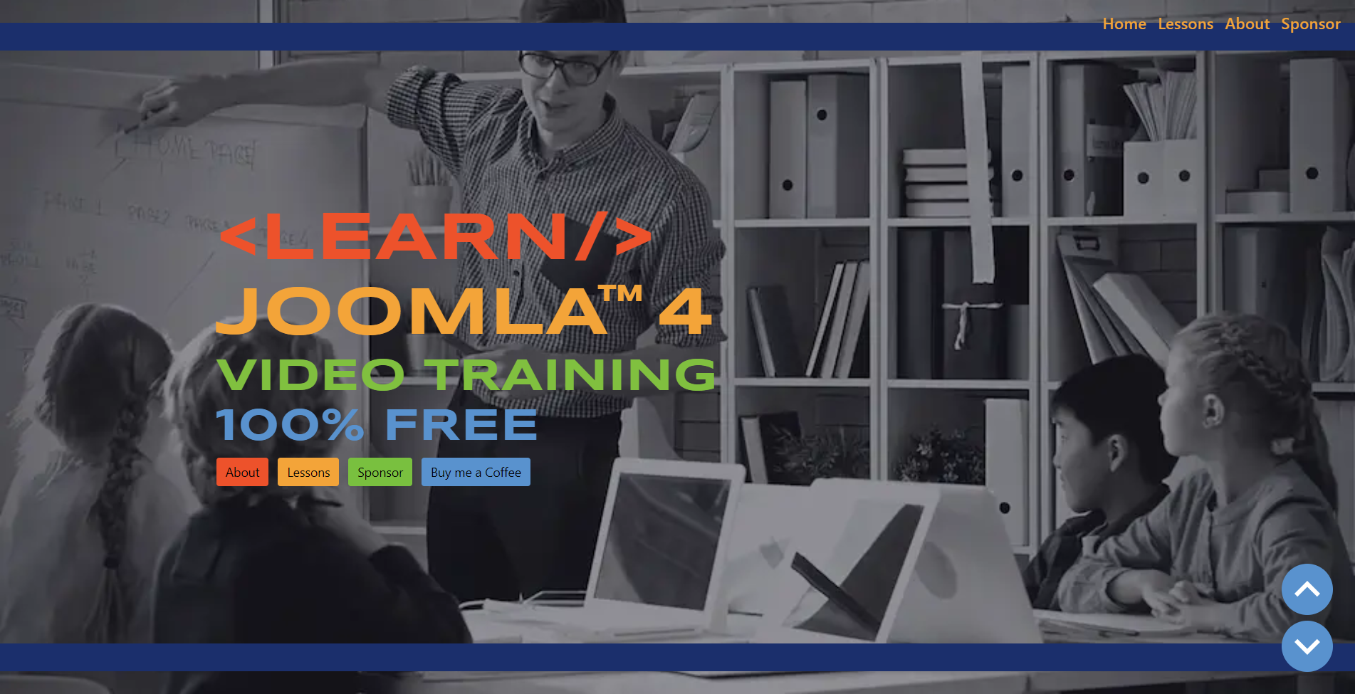 Front cover of the learnjoomla4.com website