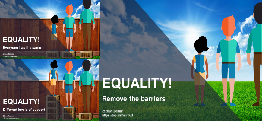 Equality means removing the barriers
