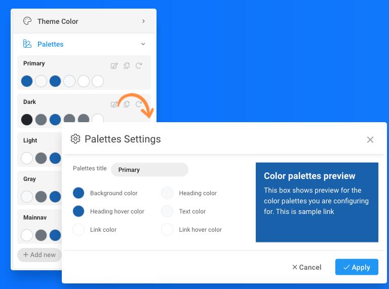 T4 Joomla template framework theme color