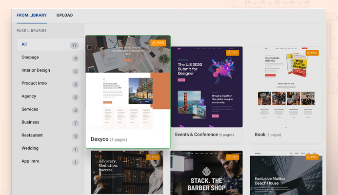 import T4 Joomla page builder layout pack
