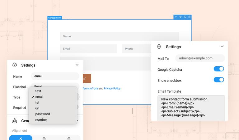 T4 Joomla page builder contact form builder