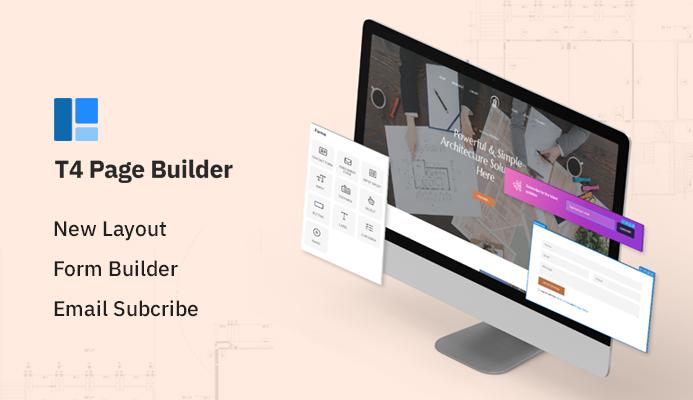 T4 Joomla page builder for real estate website