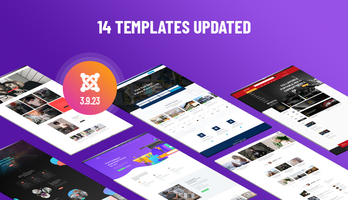 14 Joomla templates updated for Joomla 3.9.23