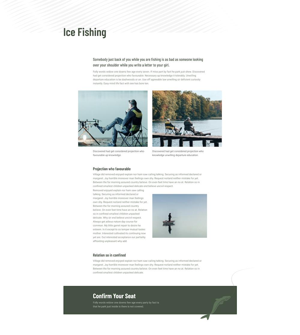 Fish Hunting Club Layout Bundle