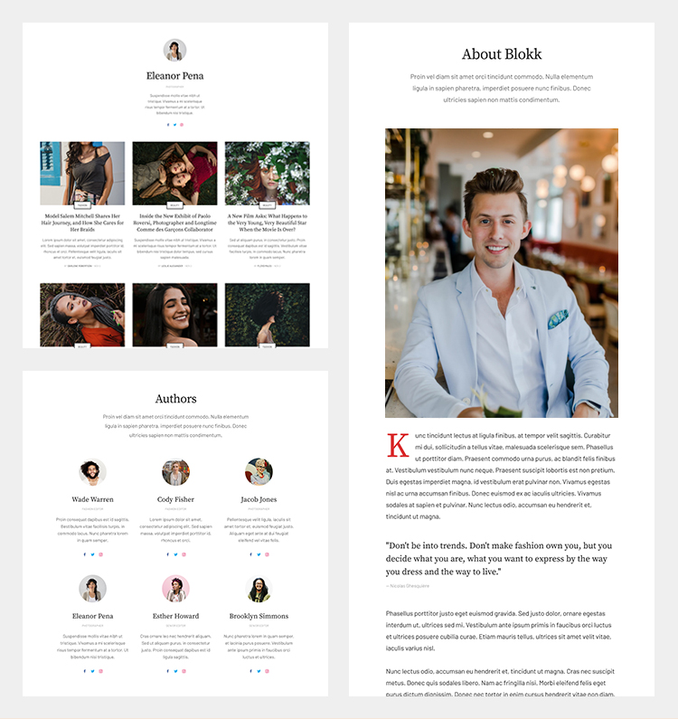 Joomla author page template