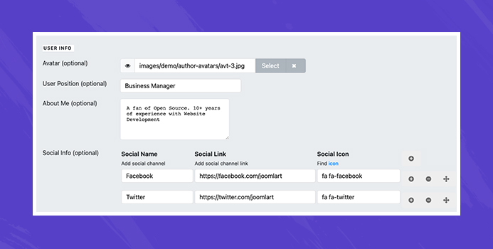 Joomla user profile update