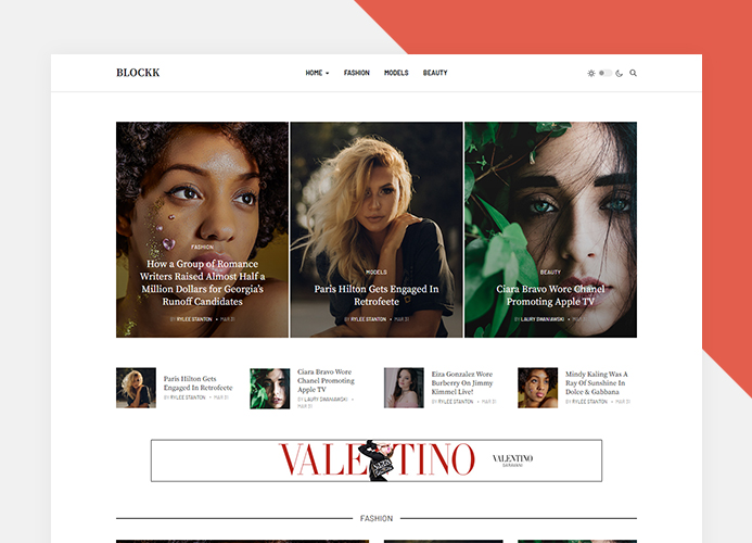 Joomla fashion magazine template
