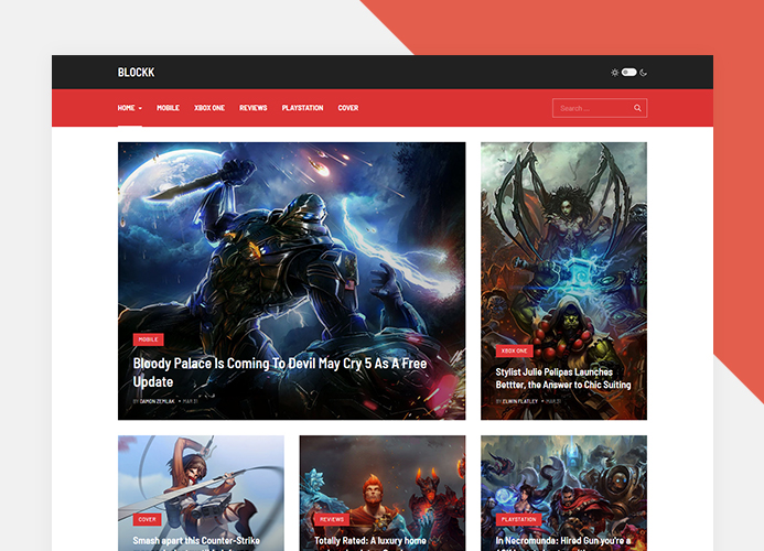 Joomla gaming magazine template