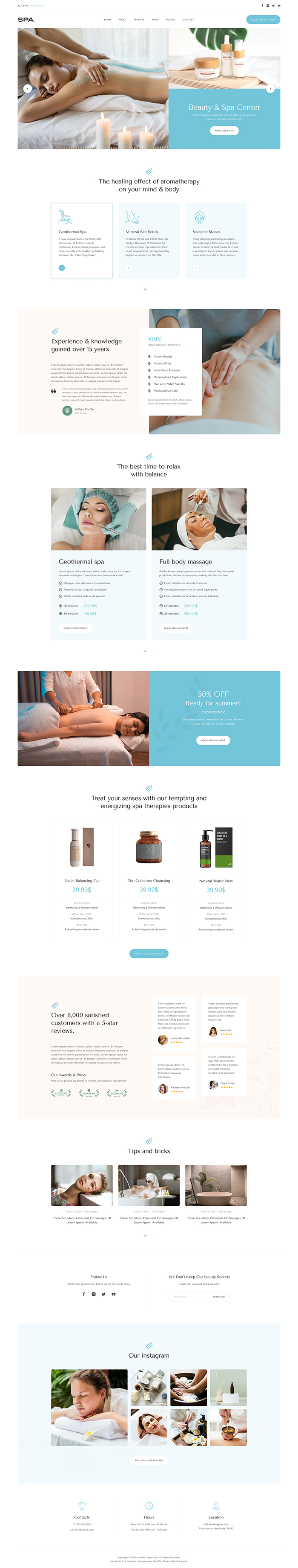 joomla page builder template for spa and beauty salon