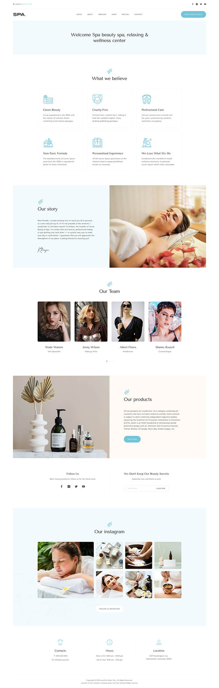 joomla spa and beauty salon website bundle