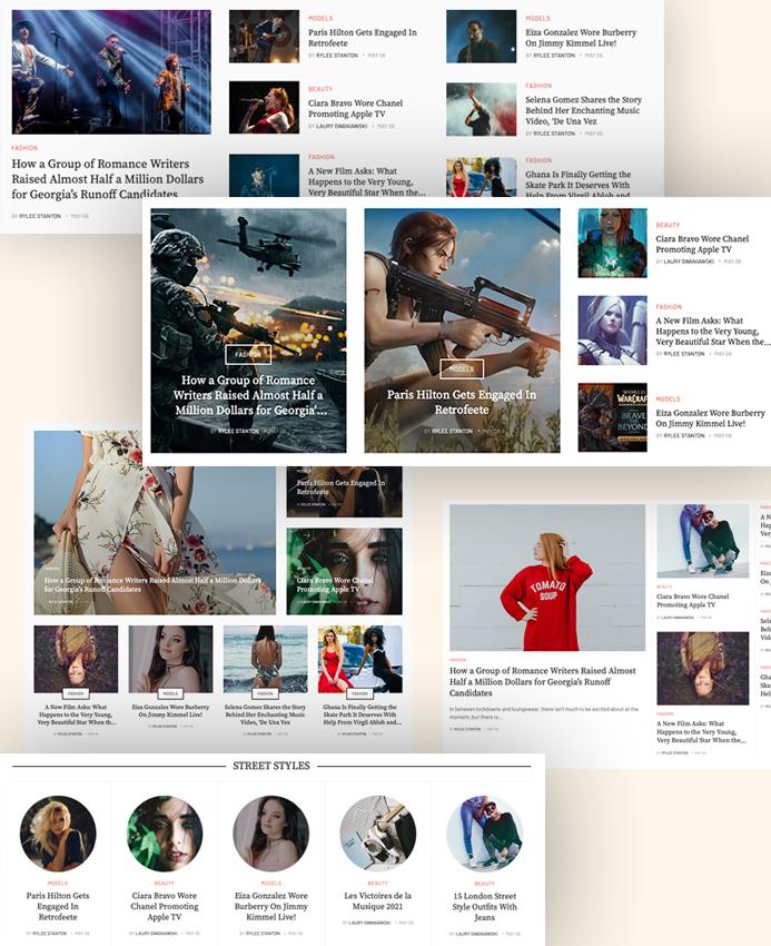 Joomla article display extension layouts