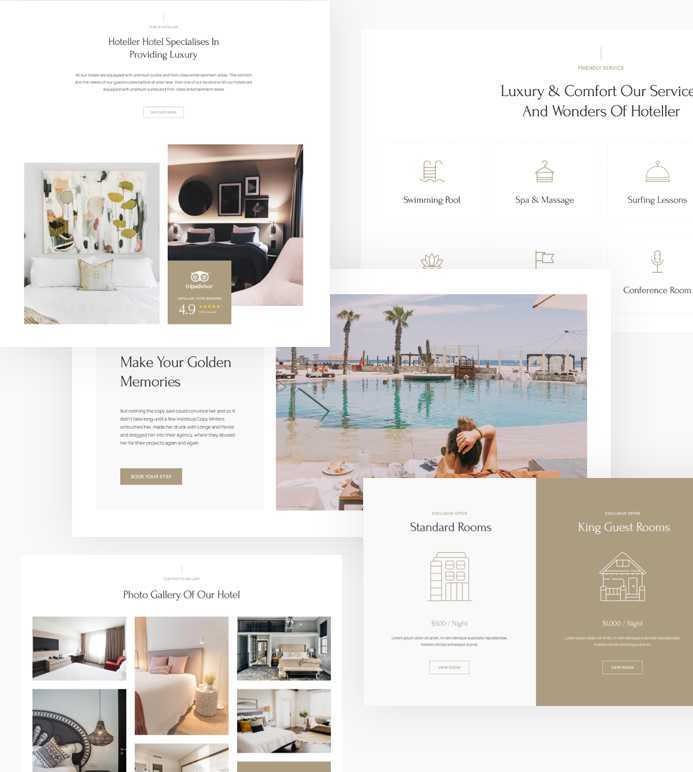 joomla page builder template for hotel and resort