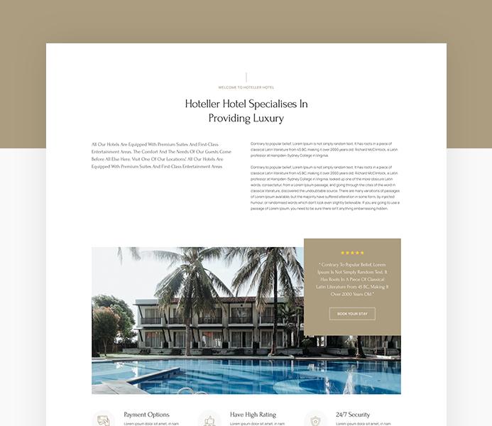 joomla hotel and resort website bundle