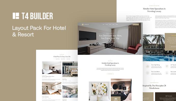 Joomla page builder website bundle for hotel and resort