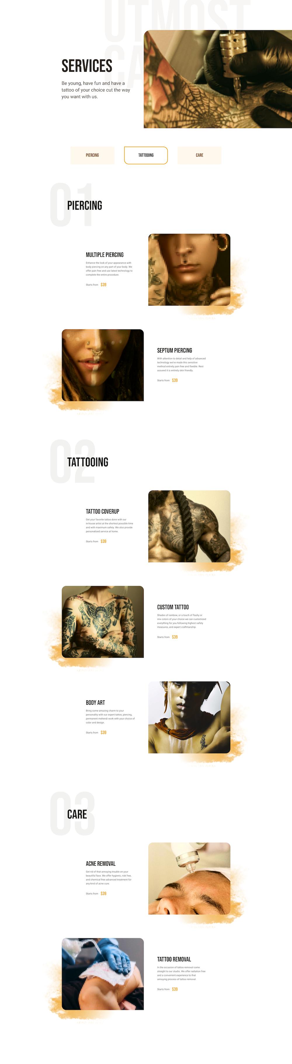 Tattoo Studio Layout Bundle