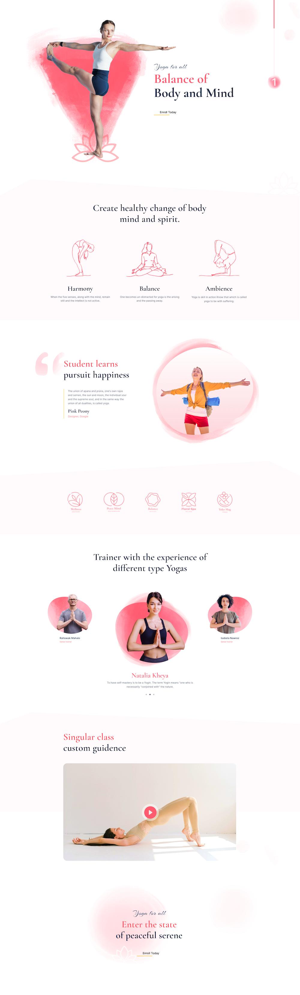 Yoga School Layout Bundle