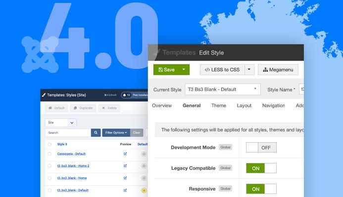 T3 Joomla template framework updated for Joomla 4