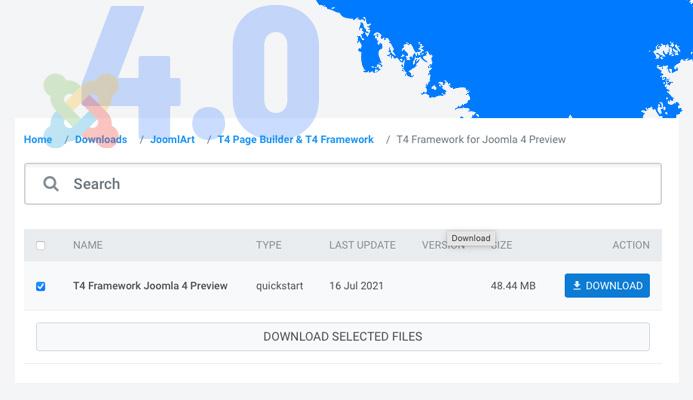 download t4 framework for joomla 4