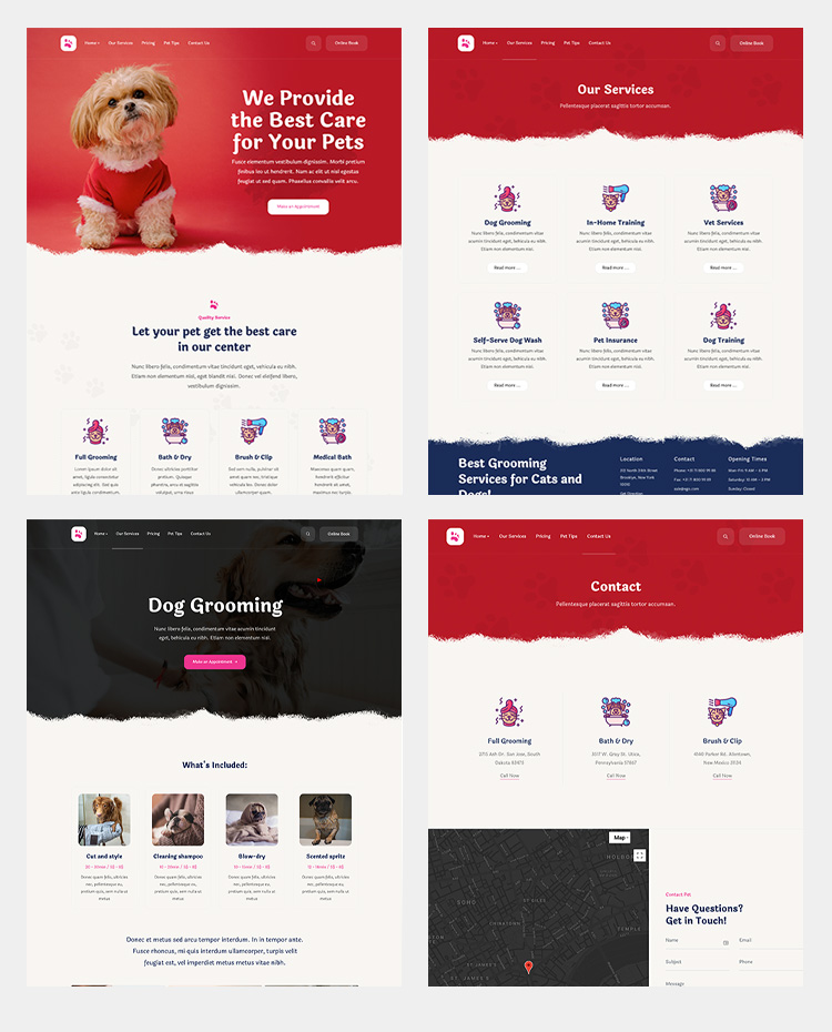 pets and animal services joomla template - JA Ego