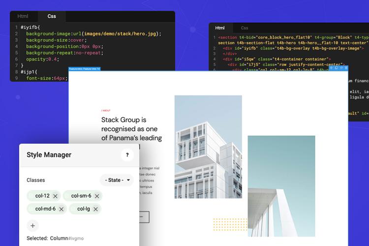 joomla page builder custom HTML and CSS