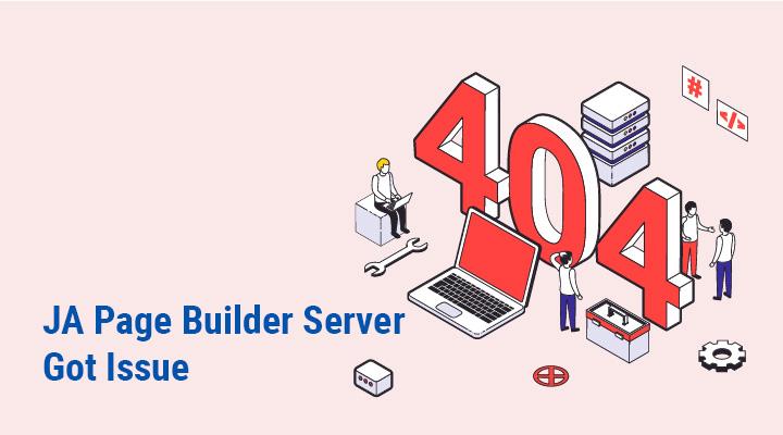 joomla ja page builder server update
